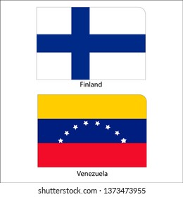 Flags of Finland and Venezuela