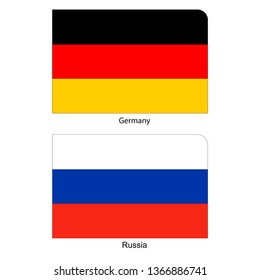 Flags of Germany and Russia