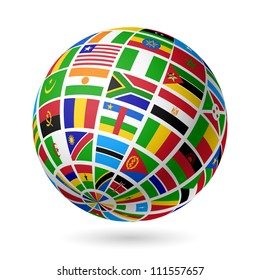 Flags globe images stock photos vectors shutterstock flags globe africa vector freerunsca Image collections