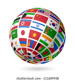 Flags globe images stock photos vectors shutterstock flags globe asia vector freerunsca Image collections