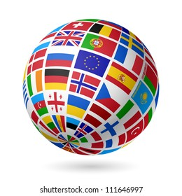 Balls country flag images stock photos vectors shutterstock flags globe europe vector freerunsca Image collections