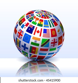 Flags globe images stock photos vectors shutterstock flags globe internet background original vector illustration eps10 freerunsca Image collections