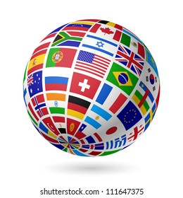 Flags globe images stock photos vectors shutterstock flags globe vector freerunsca Image collections