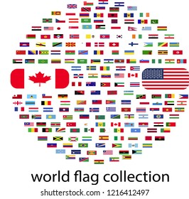 Flags globe. Vector.Flags of all countries in the world