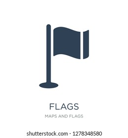 flags icon vector on white background, flags trendy filled icons from Maps and Flags collection, flags vector illustration