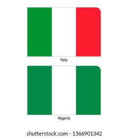 Flags of Italy and Nigeria