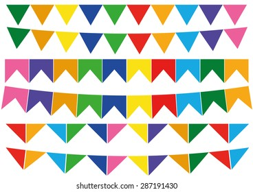 Flags June Party Vector
