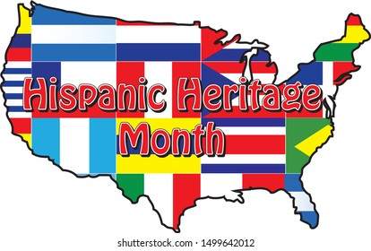 Flags of National Hispanic Heritage Month