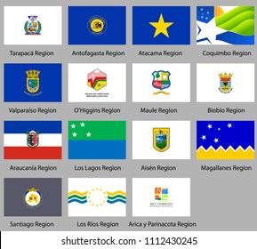 Flags of the regions of Chile