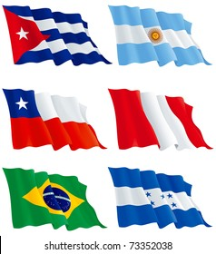 Flags set 7. Honduras, Cuba, Argentina, Peru, Brazil, Chile. There are no meshes in this images.