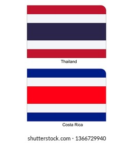Flags of Thailand and Costa Rica