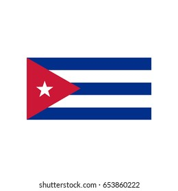 Flags vector of the Cuba.