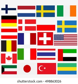 Flags vector of the world.
