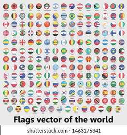 Flags vector of the world, circular design