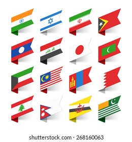 International flags stock illustrations images vectors shutterstock flags of the world asia set 2 vector illustration freerunsca Image collections