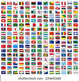 International flags stock illustrations images vectors shutterstock flags of world flat vector illustration set october 2014 freerunsca Image collections