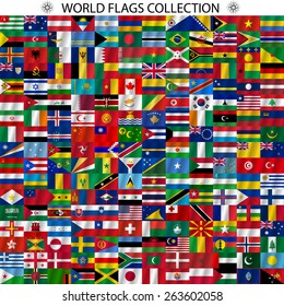 Background various world flags eps 10 vector stock vector royalty flags of the world and map on white background vector illustration freerunsca Image collections