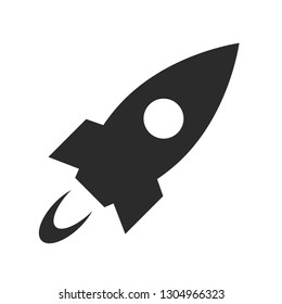 flaing rocket icon space