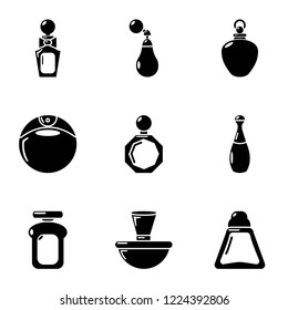 Flair icons set. Simple set of 9 flair vector icons for web isolated on white background