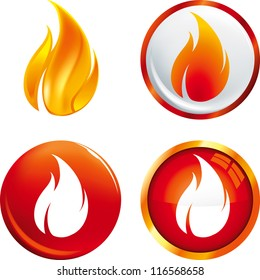 Flame buttons