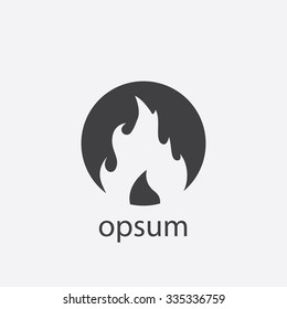 flame cut identity template icon design element