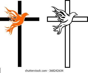 Flame Dove Cross