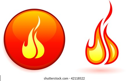 Flame and fire design elements