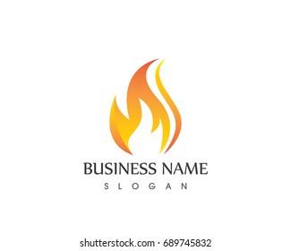Flame Fire Logo Design