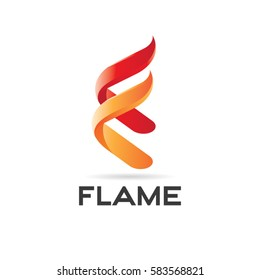 Flame Fire Logo Design Symbol