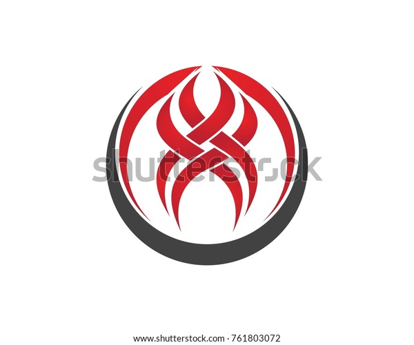 Flame Fire Tattoo Logo Design Stock Vector (Royalty Free) 761803072