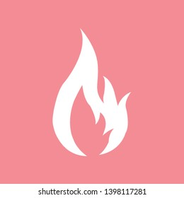Flame gas fire icon on pink background