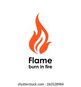 Flame icon. Logo design vector template. Fire logotype icon