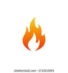Flame icon logo flat vector illustration