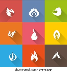 Flame icon set 1