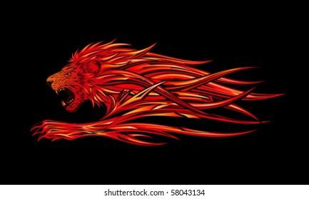 Fire Lion Images Stock Photos Vectors Shutterstock