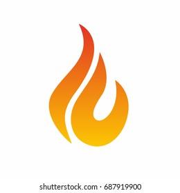 Flame logo, fire icon. Fire flame logo design template. Vector