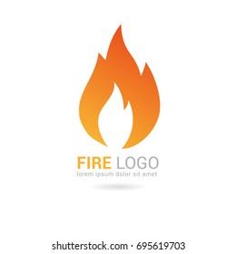 Flame logo template. Fire vector design. Oil and gas logo.