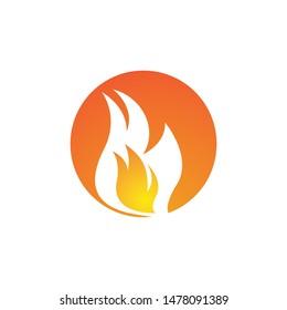 Flame logo template vector icon design