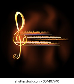 flame and music