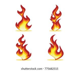 flame set design illustration