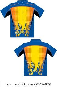 flame sublimated shirt