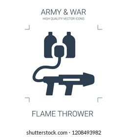 flame thrower icon. high quality filled flame thrower icon on white background. from war collection flat trendy vector flame thrower symbol. use for web and mobile