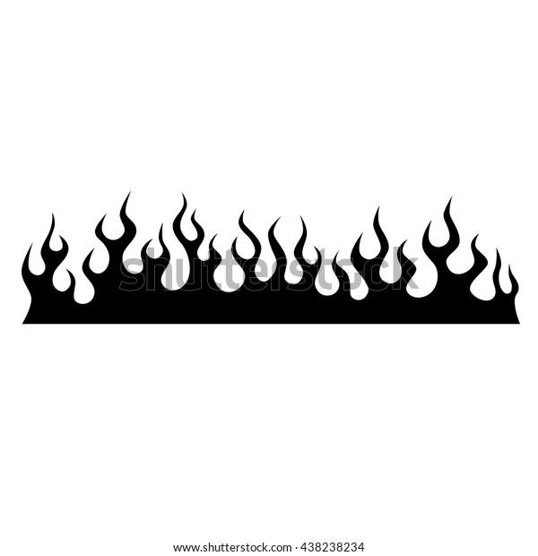 Image Vectorielle De Stock De Image Vectorielle De Flamme