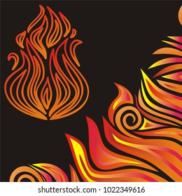 Flame. Vector illustration