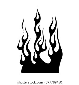 flame vector tribal, flames vector isolated on white background, fire icon