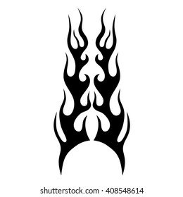 flame vector tribal, tribal symmetric pattern elements for tattoo men right and left hand and shoulders, art deco idea tattoos design body,