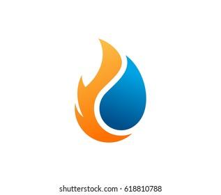 Flame water logo