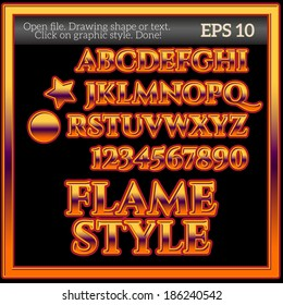Flame Work Graphic Style.
