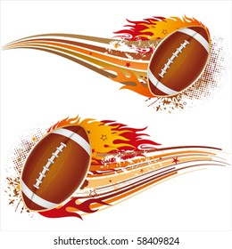 flame,american football design element