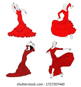 flamenko dance red  latin pictures